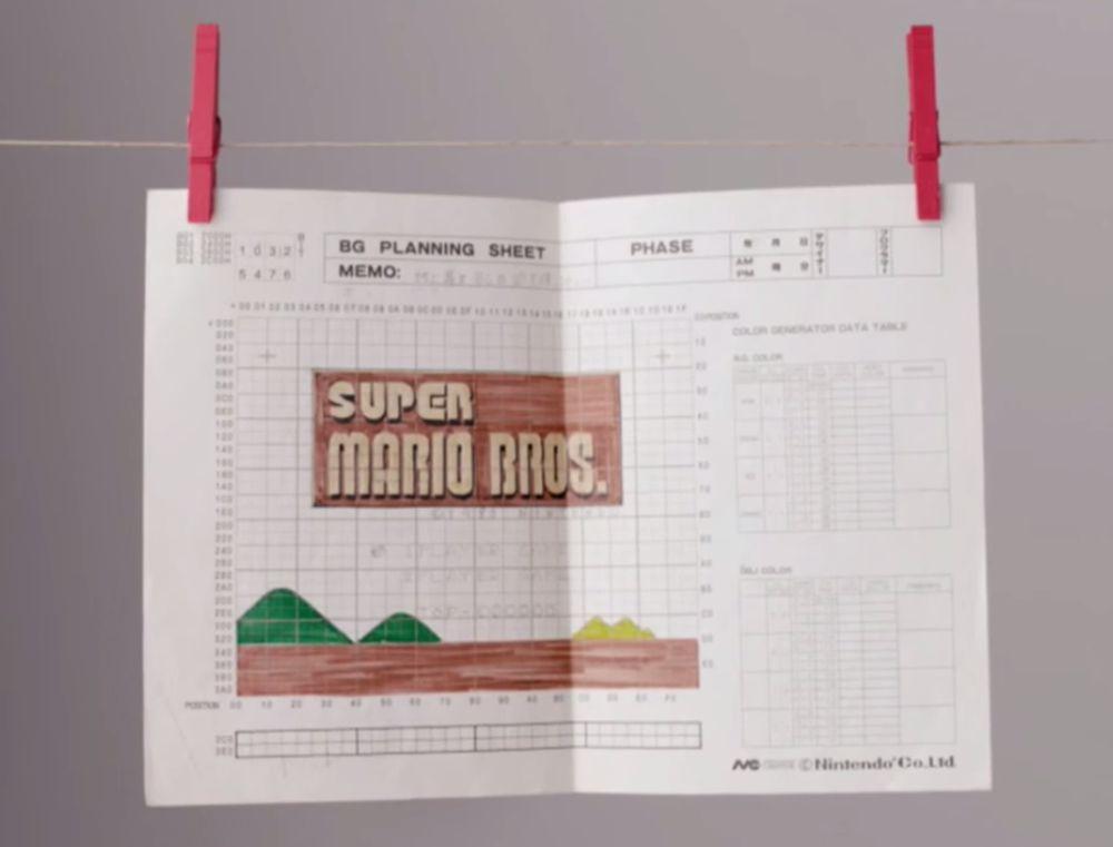 Il videogioco di Super Mario è stato disegnato su carta millimetrata