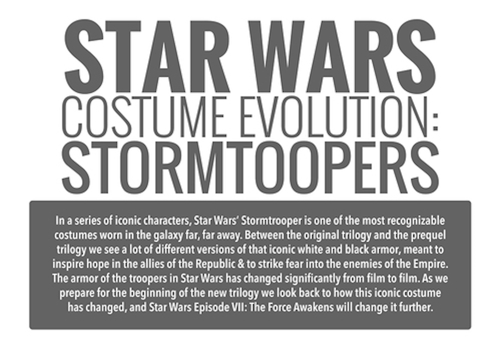 Star Wars Costume Evolution: Stormtroopers