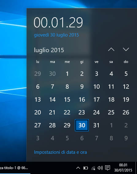 Windows 10 - Calendario