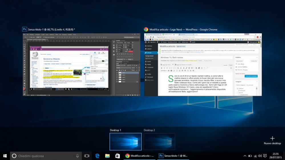 Windows 10 - Multidesk
