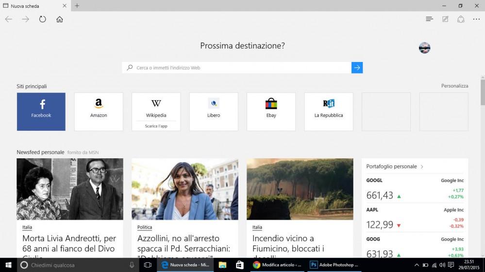 Windows 10 - Edge