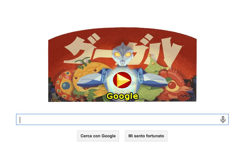 Doodle Kaiju, Google celebra il re dei Mostri
