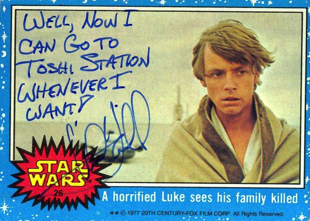 Gli inusuali autografi di Mark Hamill