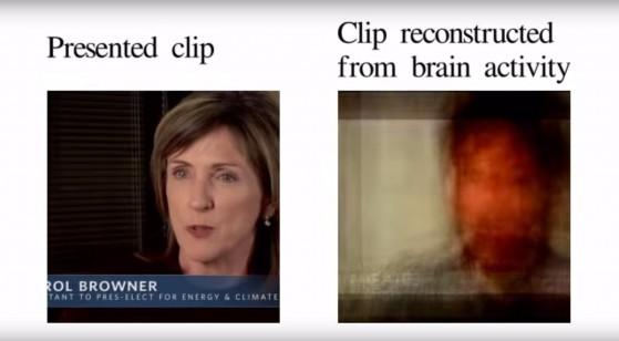 Lettura dell'attività visiva nel cervello