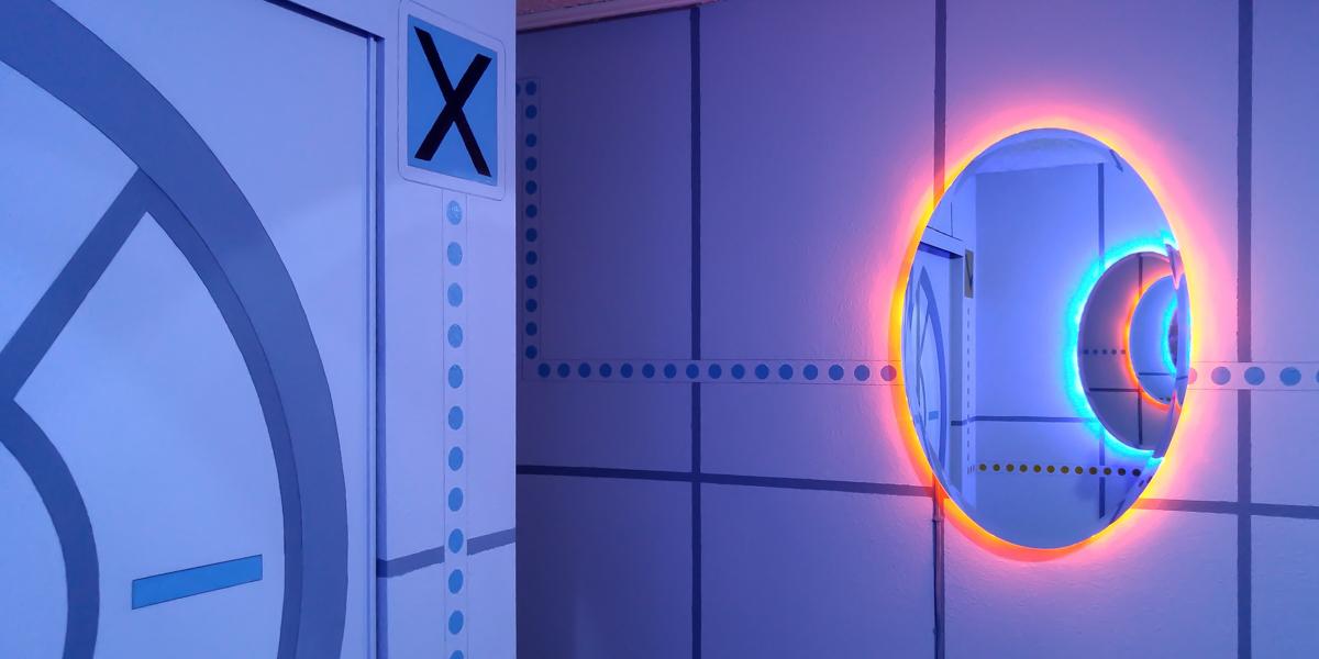 La camera da letto a tema Portal