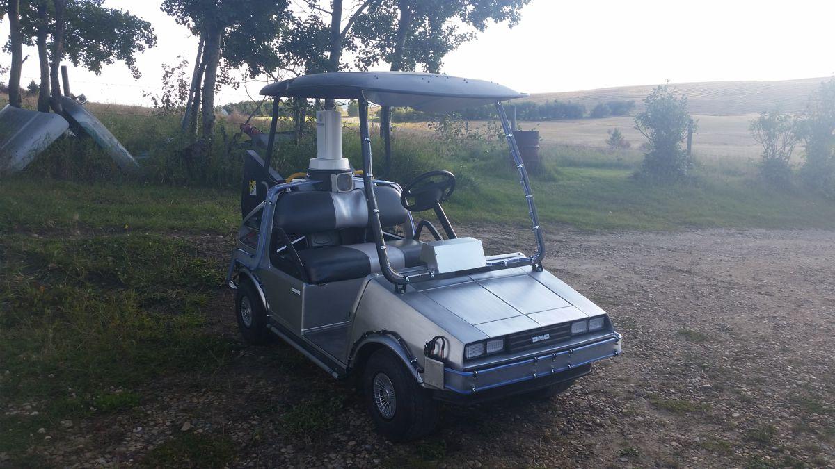 DeLorean Golf Cart