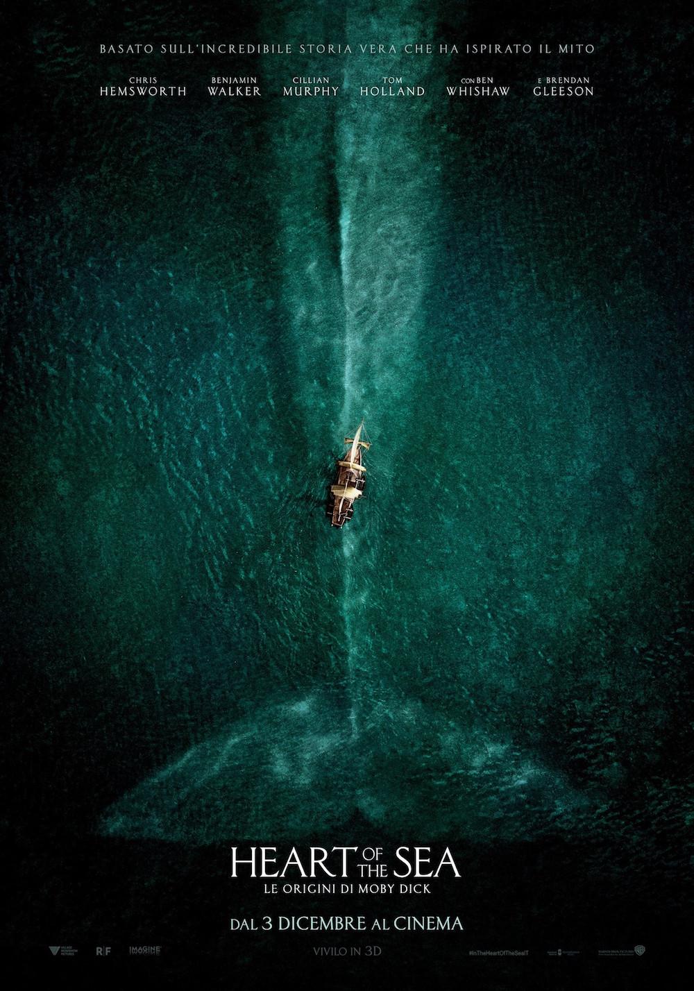 Heart of the Sea - Le origini di Moby Dick, trailer e clip dal film