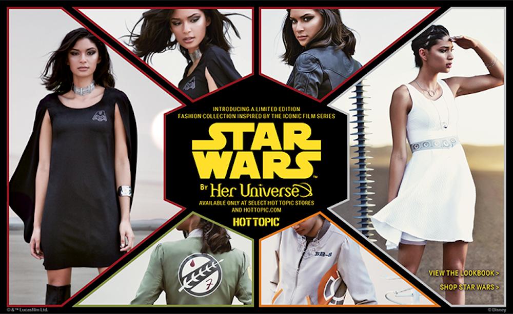 Star Wars per lei, la linea di moda