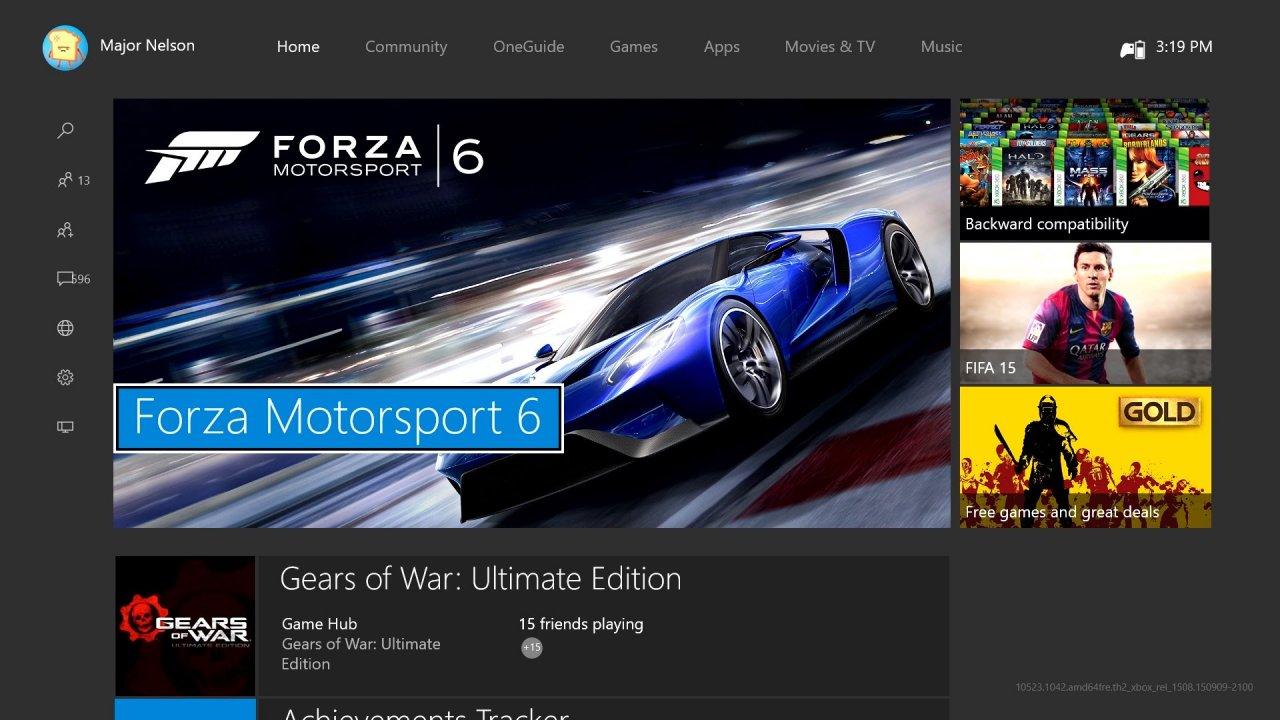 Disponibile da oggi la New Xbox One Experience