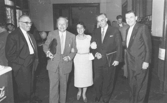 Hermann Oberth, Wernher von Braun, Eugen Sänger, Irene Sänger-Bredt, Prof. Sedov