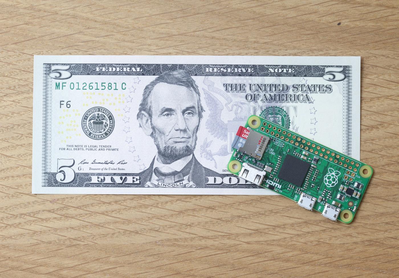 Raspberry Pi Zero, il computer da 5$