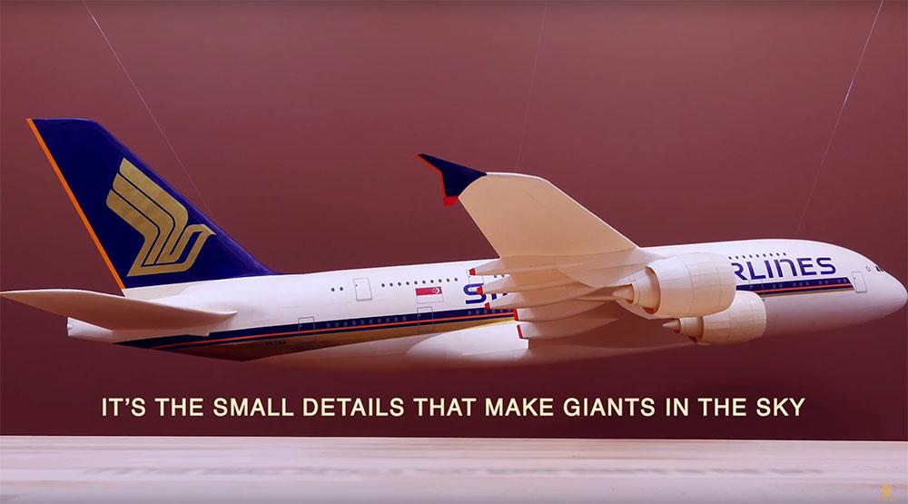 Nessun dettaglio è troppo piccolo per Singapore Airlines