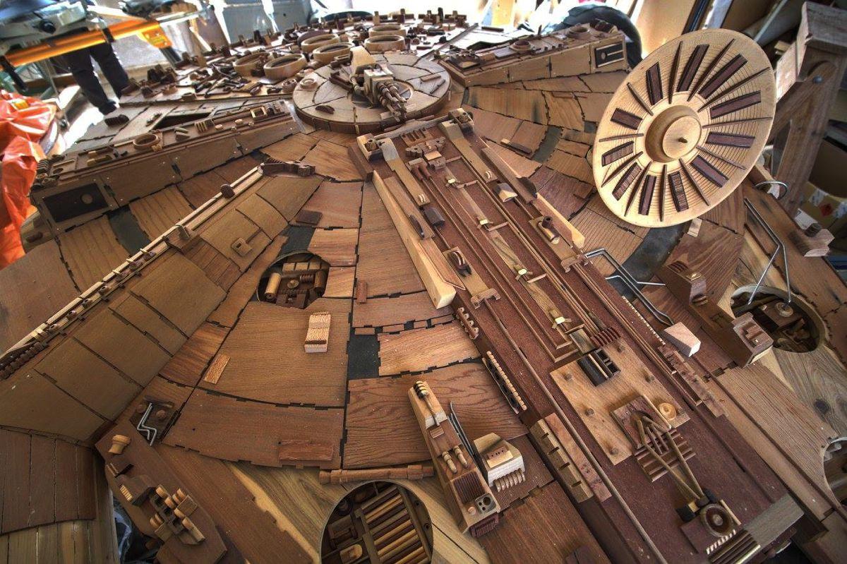 Wood Wars: il Millennium Falcon di legno