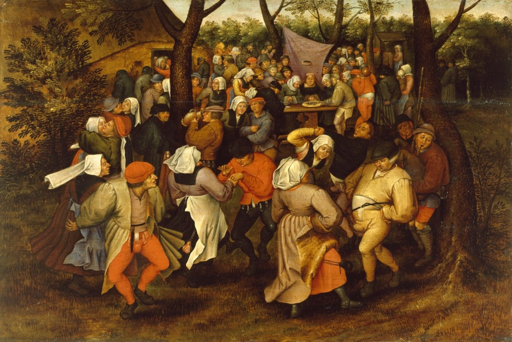 Pieter Brueghel II (Flemish, 1564/1565-1637/1638). 'Peasant Wedding Dance,' 1607. oil on panel. Walters Art Museum (37.364): Acquired by Henry Walters.