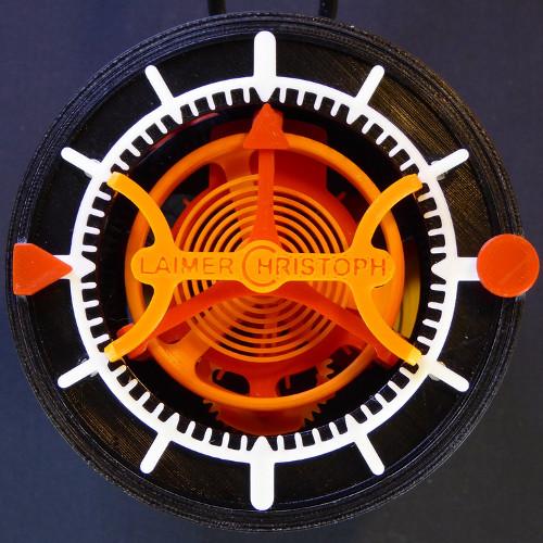L'orologio stampato 3D completo di tourbillon