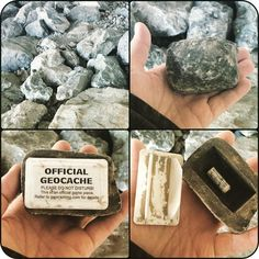 Geocaching Geocache roccia fake