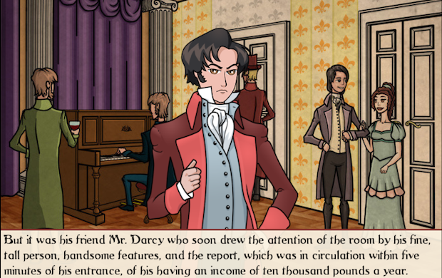 Un losco Mr. Darcy in versione semi-manga. WTF