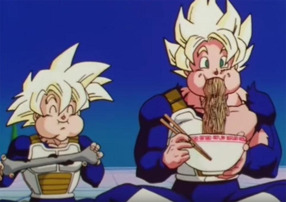 Dragon Ball e la passione per il cibo