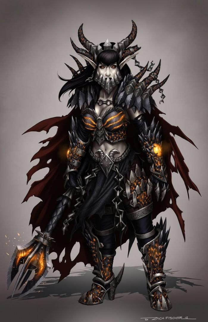lady_deathwing_by_zfischerillustrator-d9glj5r