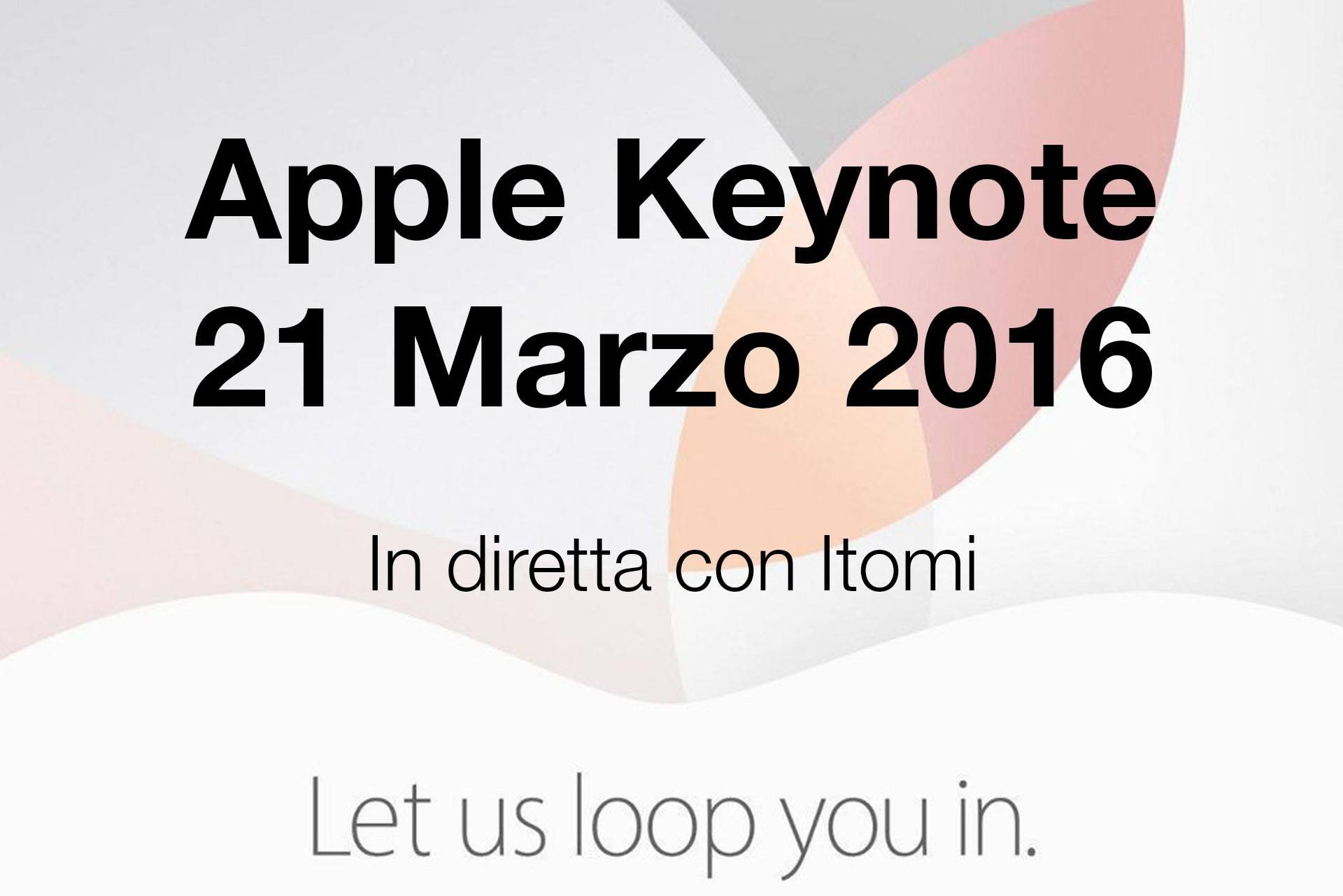 Evento Apple in diretta con Itomi!
