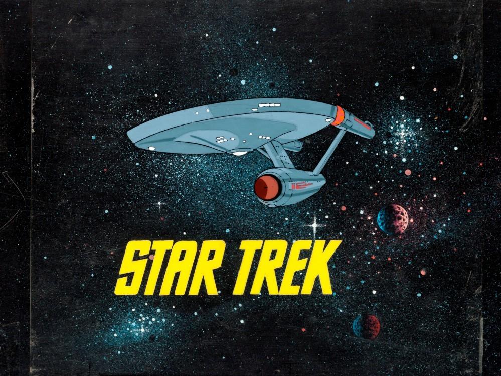 Star-Trek-Production-Title-Cel-Setup-and-Master-Background-Filmation-1973