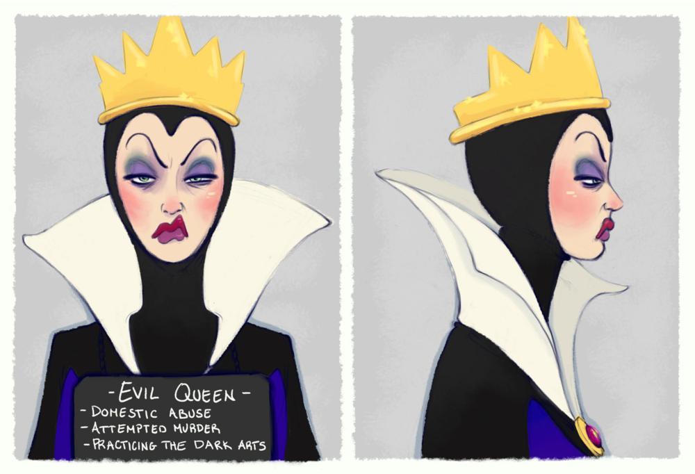 Le foto segnaletiche dei Villain della Disney