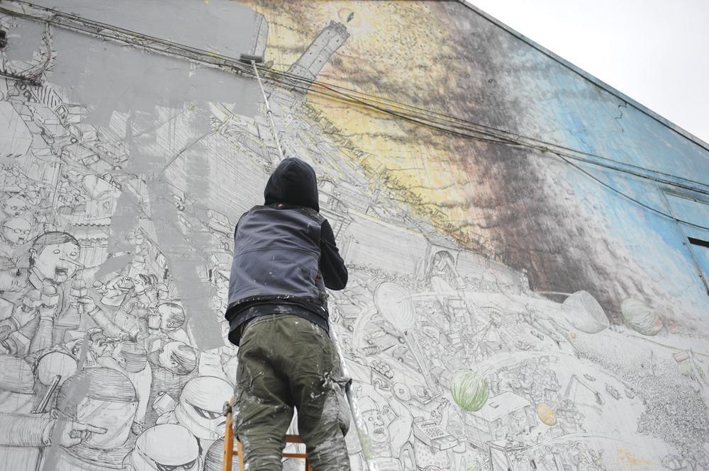 Il caso Blu a Bologna e i graffiti oscurati
