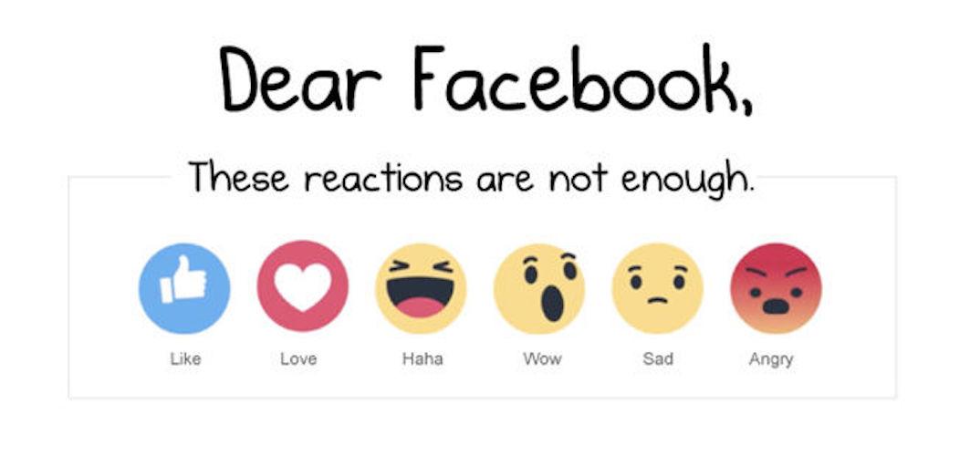 Le reazioni di Facebook che vi mancano secondo The Oatmeal