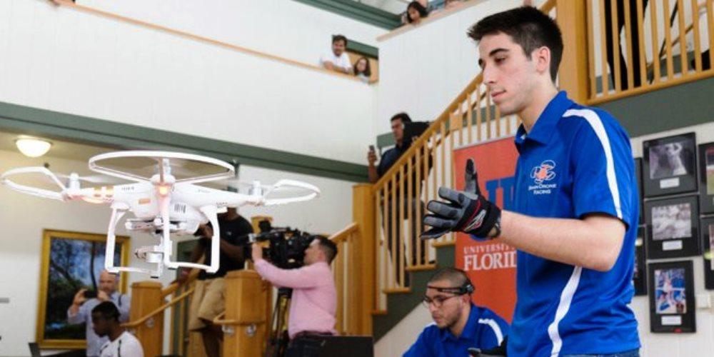Brain Drone Race, la gara dei droni controllati con il pensiero