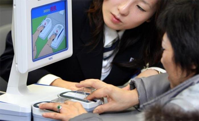 Giappone Pagamenti impronte digitali