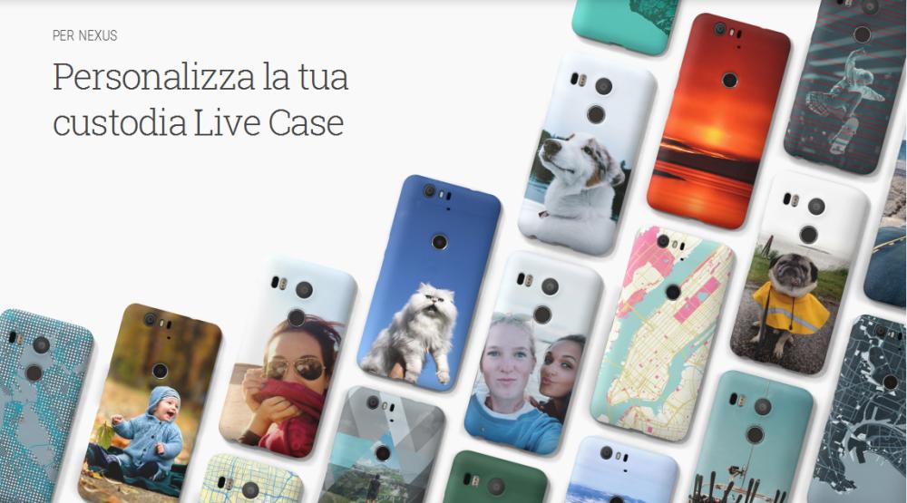 Google Live Case, la custodia personalizzata per Nexus 5X, 6P e 6