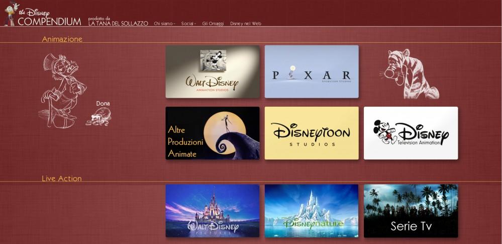 Home page del The Disney Compendium