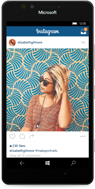 IG in device with shadow
