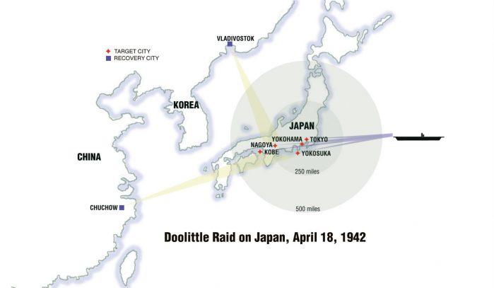 Il raid in Giappone del 1942.