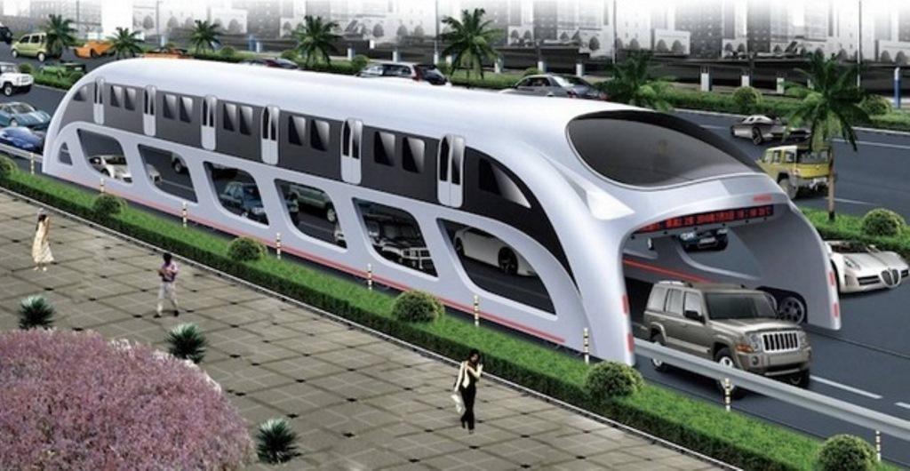 In Cina si ipotizza l'autobus che passa sopra le auto