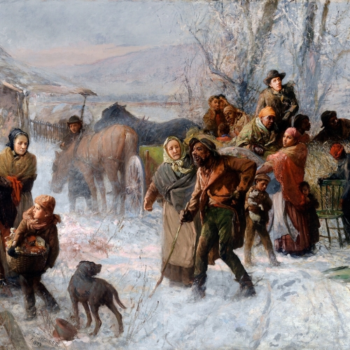 DRM5FP Charles T. Webber, The Underground Railroad 1893 Oil on canvas. Cincinnati Art Museum, Cincinnati, Ohio, USA.
