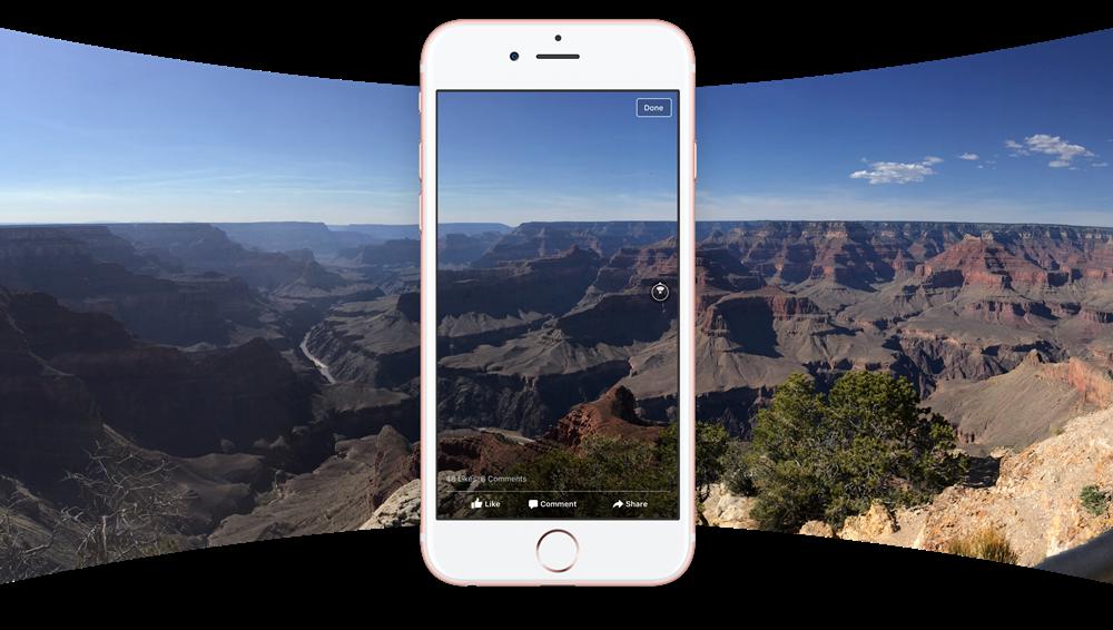 Facebook implementa le foto a 360 gradi