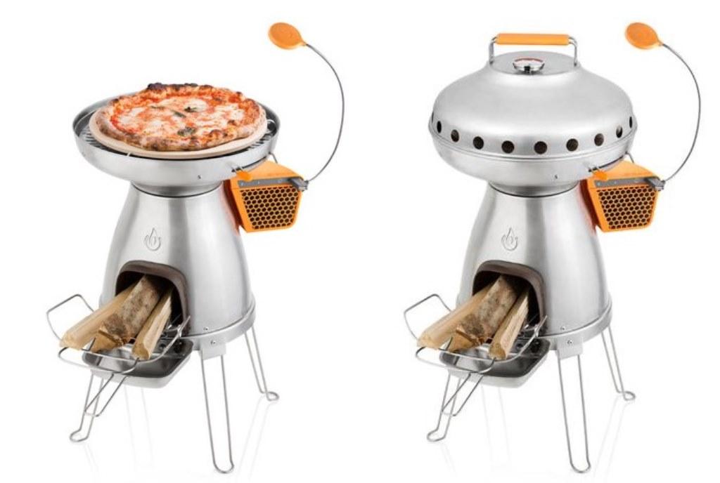 PizzaDome, il forno da campeggio che ti ricarica lo smartphone