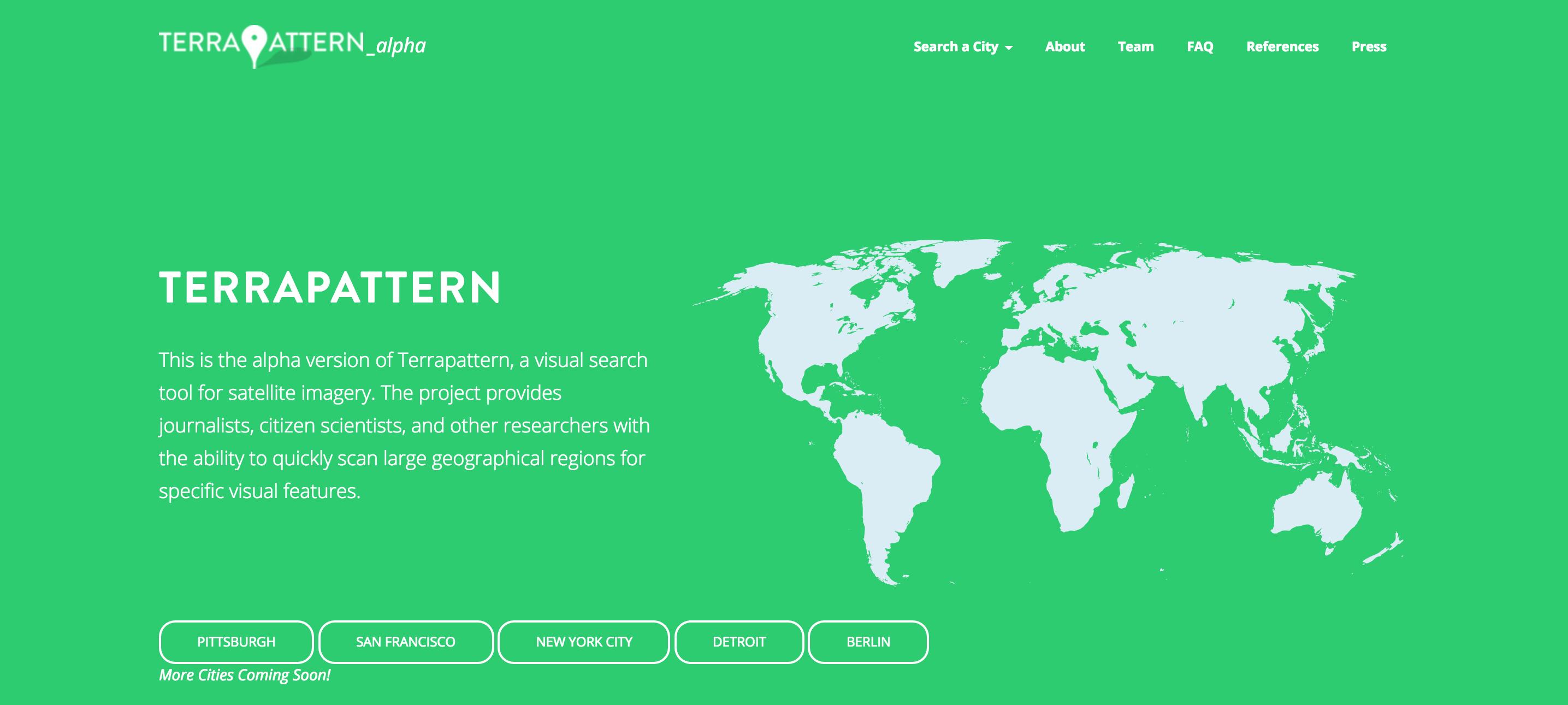 Terrapattern, il motore di ricerca per immagini satellitari