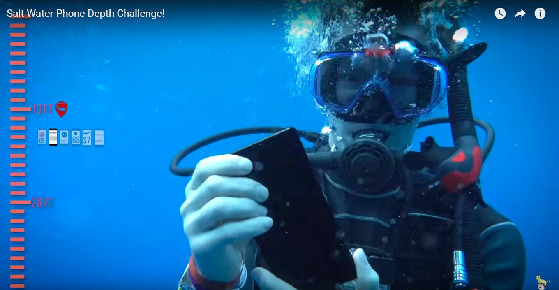 Salt Water Phone Depth Challenge