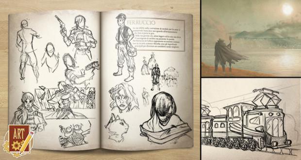 Una delle perk di sìon è l'artbook con lo studio personaggi e ambientazioni