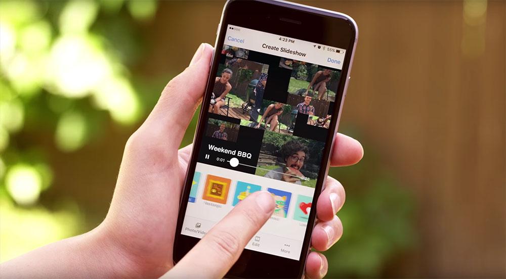 Facebook Slideshow, le foto diventano mini video