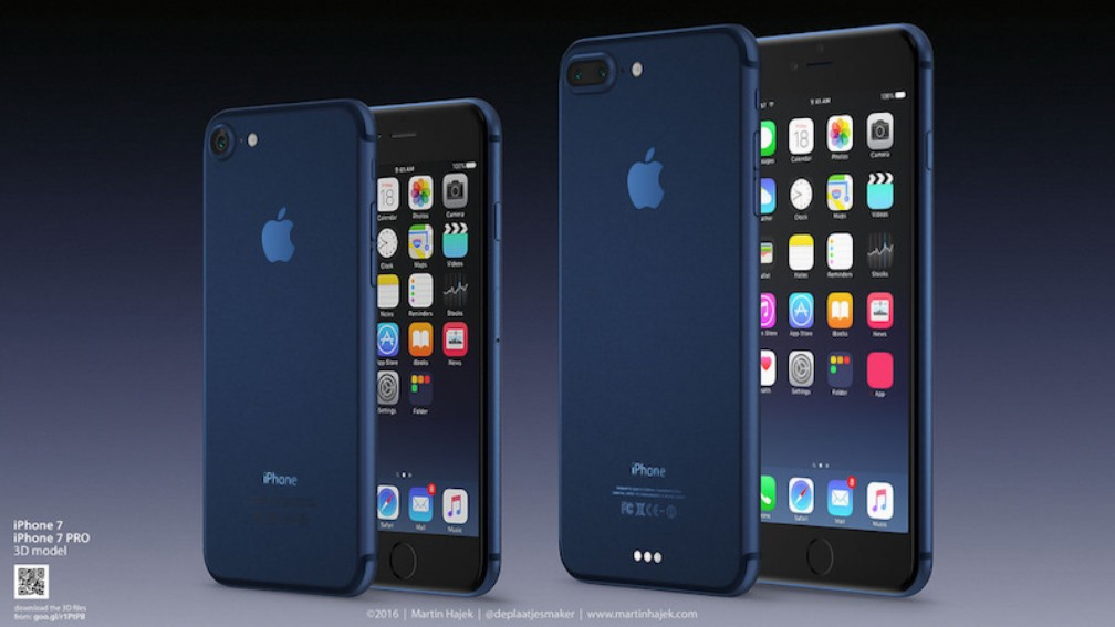 iPhone 7, una scocca di colore blu?