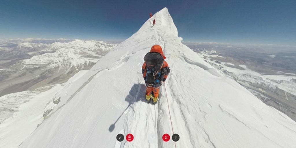 Project 360°, la scalata dell'Everest a 360 gradi