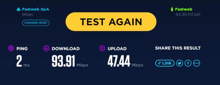 Speed test fastweb ookla