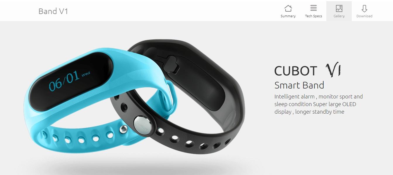 Cubot V1, lo smartband low cost che sfida Xiaomi