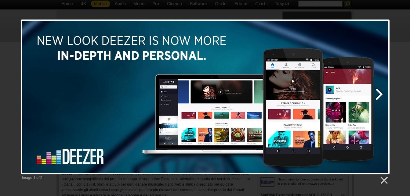 Deezer, nuovo look e Flow migliorato