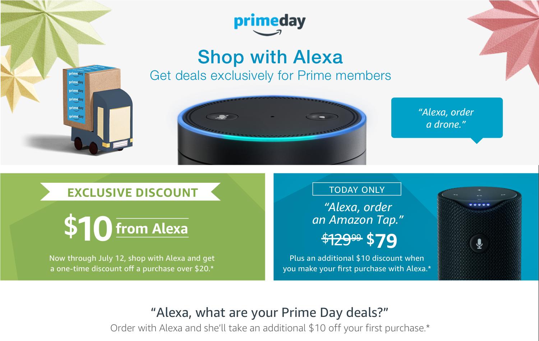 Amazon, shopping online con Alexa