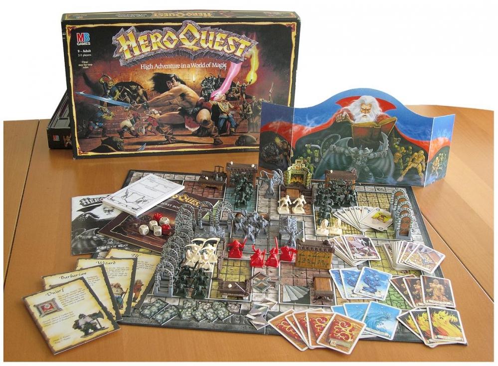 Heroquest_GameSet-board-game-complete-contents