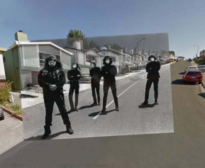 La foto è stata scattata da Bob Seidemann di fronte al 203 di Morton Drive nel quartiere di Serramonte di Daly CIty, California.